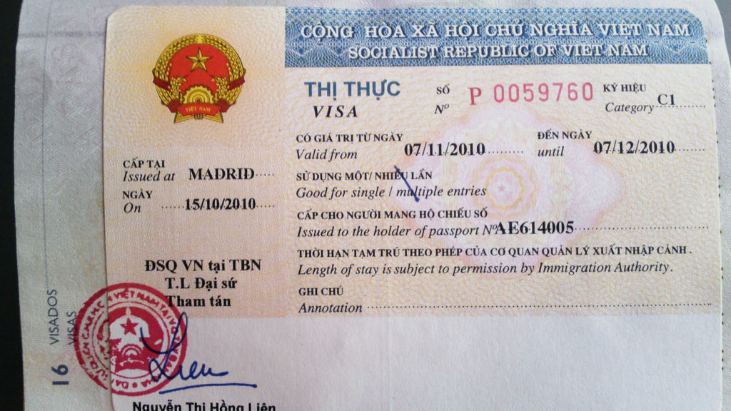 vietnam vizesi gerekli evraklar